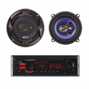 Pacchetto radio MP3 Car Player PNI Clementine 8440 4x45w + Altoparlanti per auto coassiali PNI HiFi650, 120W