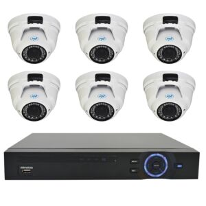 Kit di videosorveglianza PNI House - NVR 16CH 1080P e 6 PNI telecamera varifocale IP2DOME 1080P