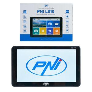 Sistema di navigazione GPS PNI L810 da 7 pollici, 800 MHz, 256 M DDR, memoria interna da 8 GB, trasmettitore FM