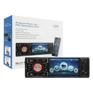 Lettore MP5 Clementine 9545 Display 1DIN 4 pollici, 50Wx4, Bluetooth, radio FM, SD e USB, 2 video RCA IN / OUT