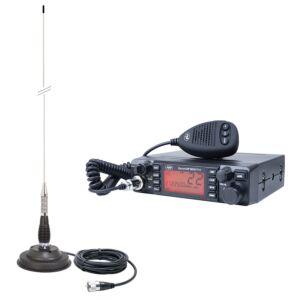Antenna HP 9001 PRO ASQ regolabile, AM-FM, 12V, 4W + CB PNI ML100