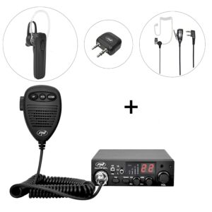 CBT CBI Station CBI 8001L ASQ + PNI BT-DONGLE 8001 Kit di scorta + PNI BT-MIKE 7500 Auricolare Bluetooth con PTT