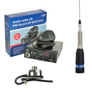 CBR CBI Station CBI ESCORT CB 8024 ASQ + CB PNI ML160 Antenna con supporto T941