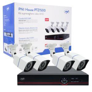 Kit di videosorveglianza AHD PNI House PTZ1500