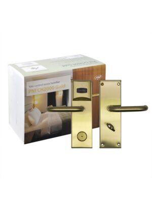 Controllo accessi hotel Yala PNI CH2000L Gold con lettore di schede sul lato sinistro