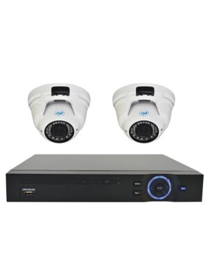 Kit di videosorveglianza PNI House: videocamere PNI varifocali NVR 16CH 1080P e 2 PNI IP2DOME 1080P