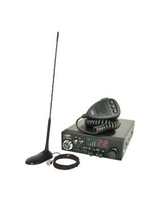 Stazione radio CB PNI ESCORT CB CB 8024 ASQ 12 / 24V + CB PNI Antenna con magnete extra 45