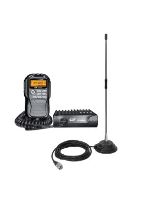 Kit stazione radio CB CRT Mike + antenna PNI Extra 40 magnete