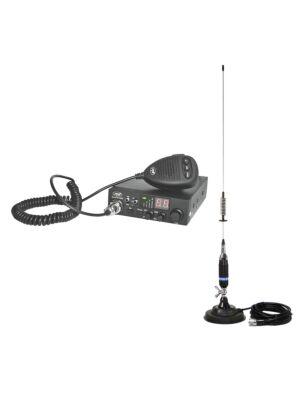 Stazione radio CB PNI ESCORT HP 8000L ASQ + antenna CB PNI S75 con magnete