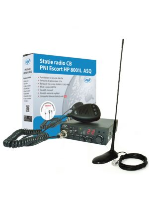 CBI Radio CBI ESCORT HP 8001L ASQ + Cuffie HS81L + CB PNI Antenna con magnete extra 45