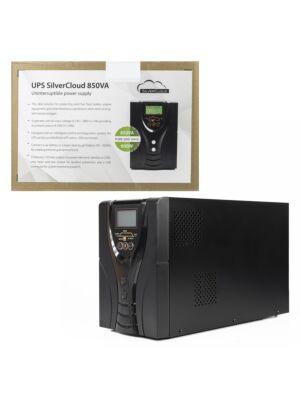 UPS SilverCloud 850VA con schermo LCD sinusoidale